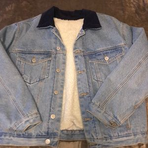 brandy Melville Jean jacket with corduroy collar
